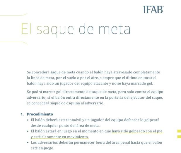 El Reglamento de la IFAB