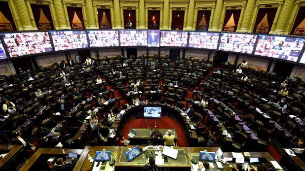 sesion diputados congreso homenaje a maradona