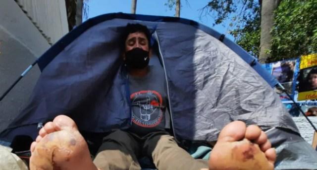 Jose Eloy Espinoza Gonzalez camina todo mexico busca hijo desaparecido 2