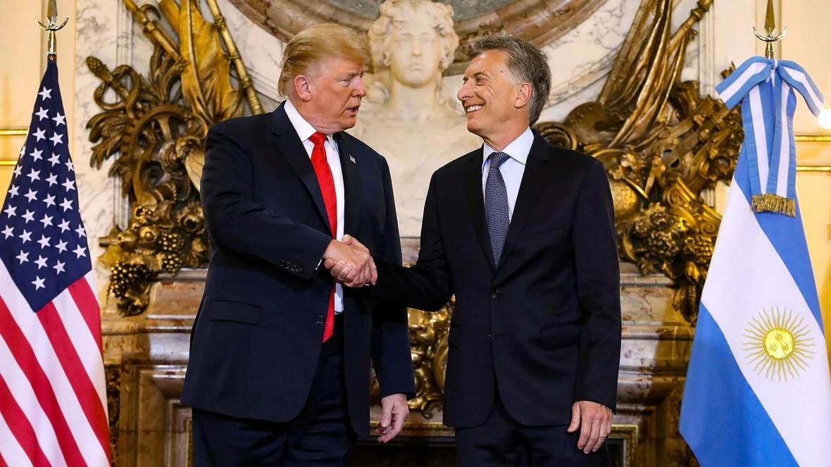 Donald Trump y Mauricio Macri en la Casa Rosada