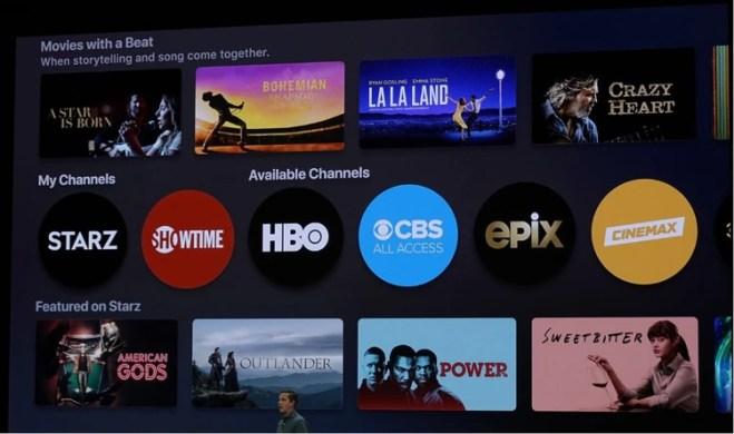 La compañía presentó una versión renovada de su app Apple TV.