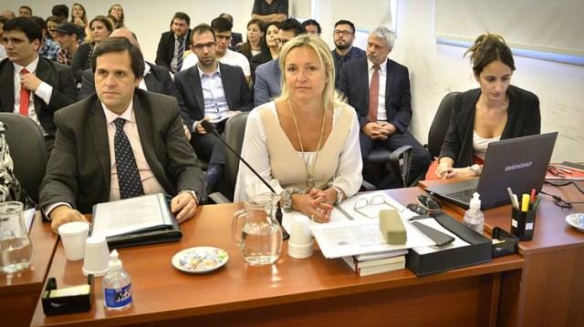 La fiscal Daniela Dupuy en el centro, a cargo de la acusación (Gustavo Gavotti)