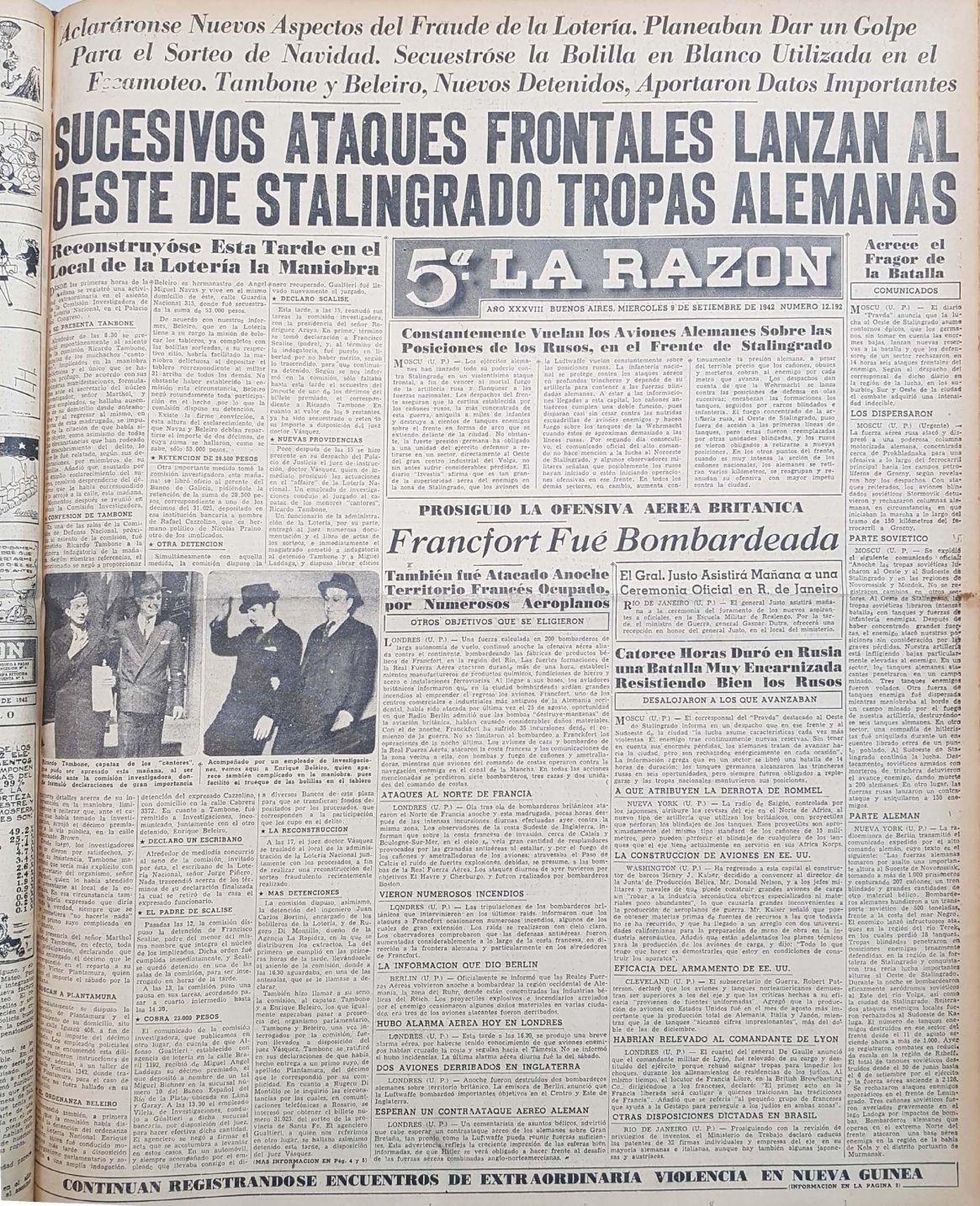 A medida que avanzaba la investigación, la noticia llegó a la tapa de los periódicos. Se hablaba de la Segunda Guerra Mundial y del fraude de los niños cantores (Archivo General de la Nación)