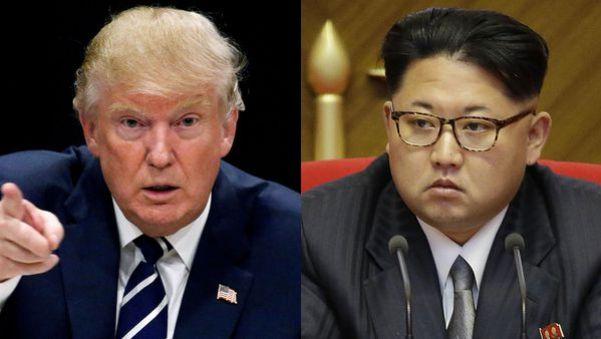 El presidente estadounidense Donald Trump y el lídernorcoreano Kim Jong-un