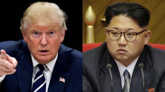 El presidente estadounidense Donald Trump y el dictador norcoreano Kim Jong Un