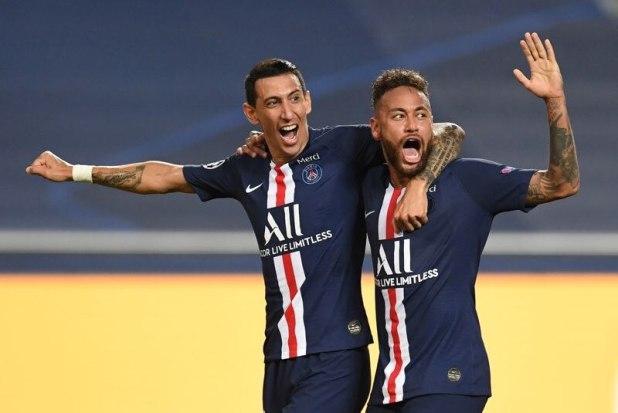 Ángel Di Maria y Neymar Jr quieren que Messi vaya al PSG (David Ramos/Pool via REUTERS)