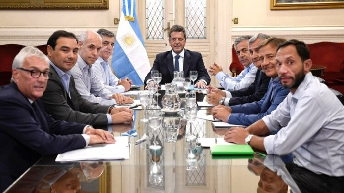 Massa recibió a Rodríguez Larreta y los gobernadores radicales