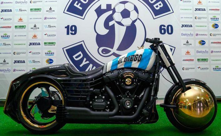 La moto de Maradona en Bielorrusia