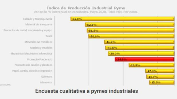 CAME Industria Mayo 2020 Sectores