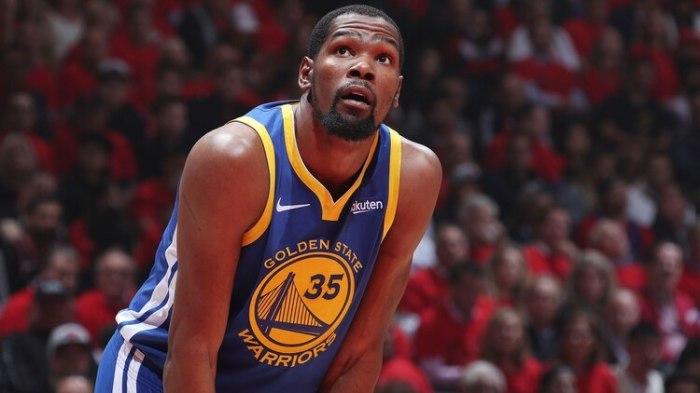 Kevin Durant ha sufrido una lesión en el tobillo derecho (AFP)