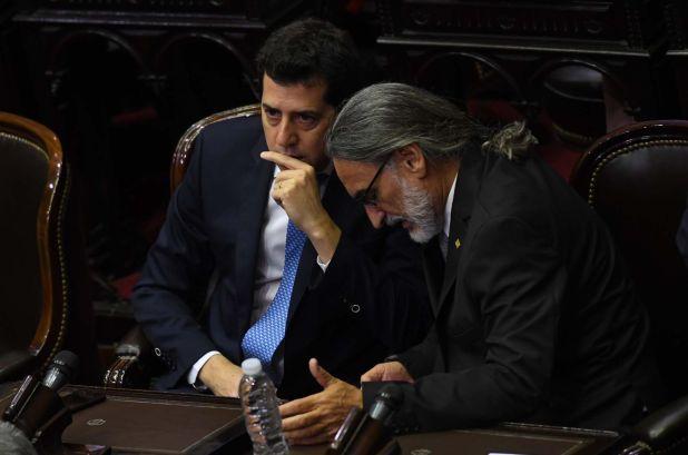 "Eduardo ""Wado de Pedro"" y Luis Basterra"