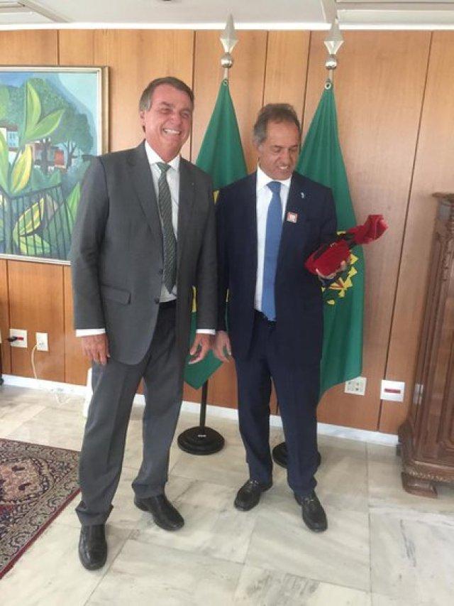 Bolsonaro y Scioli, este mediodía
