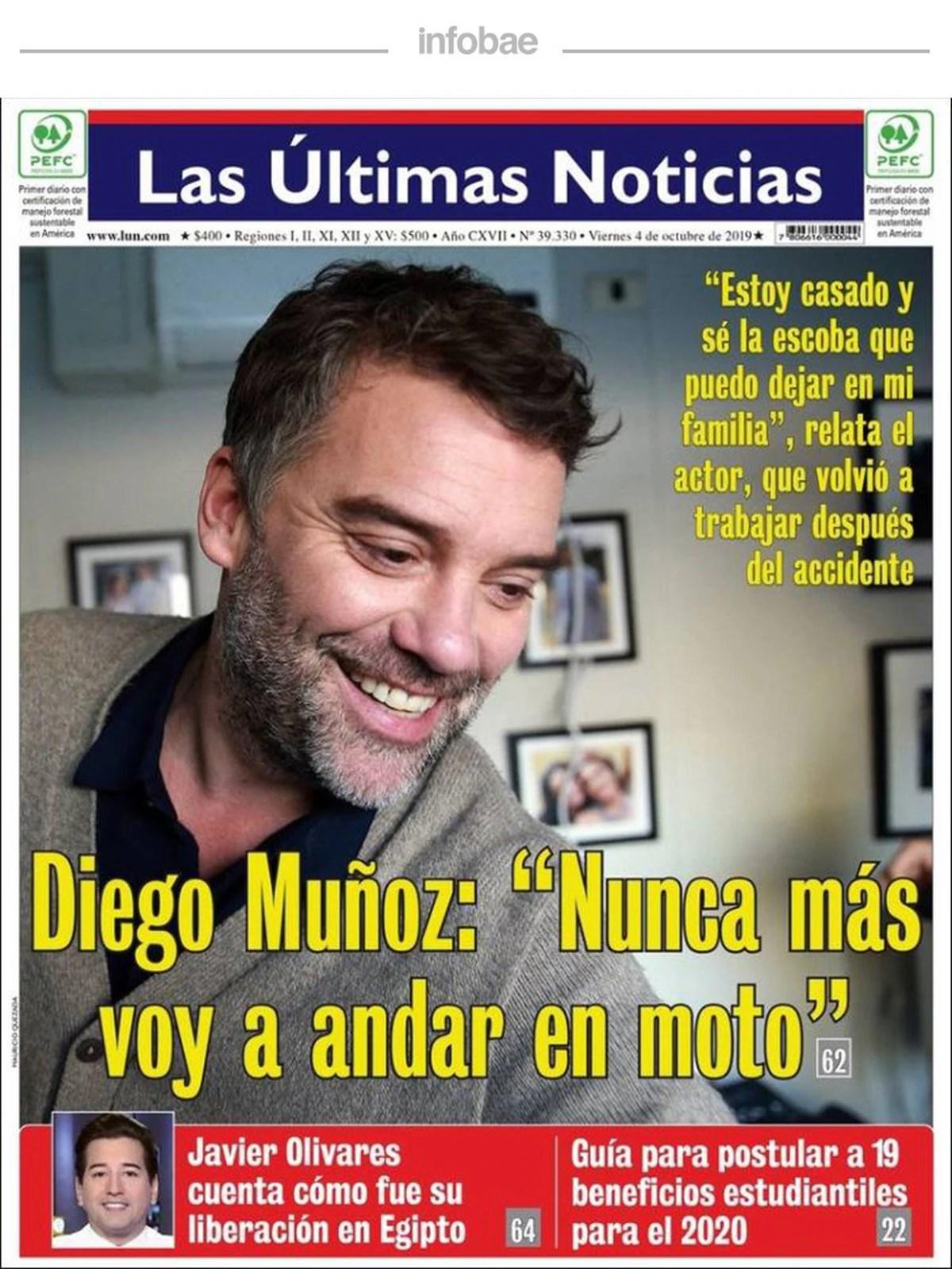 Últimas noticias, Chile, 4 octubre de 2019