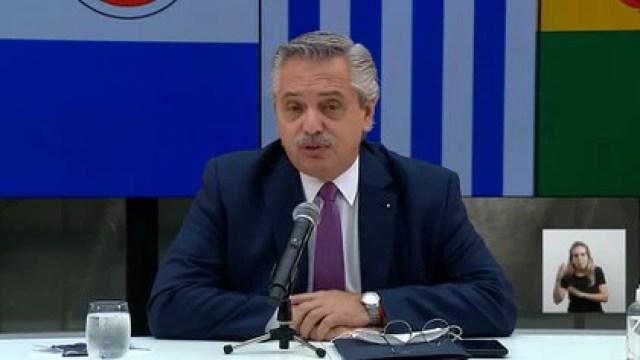 Alberto Fernández en la Cumbre del Mercosur realizada en Buenos Aires