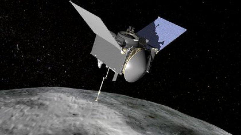 La nave Osiris-Rex se acerca a la roca espacial Bennu de 500 metros de ancho.