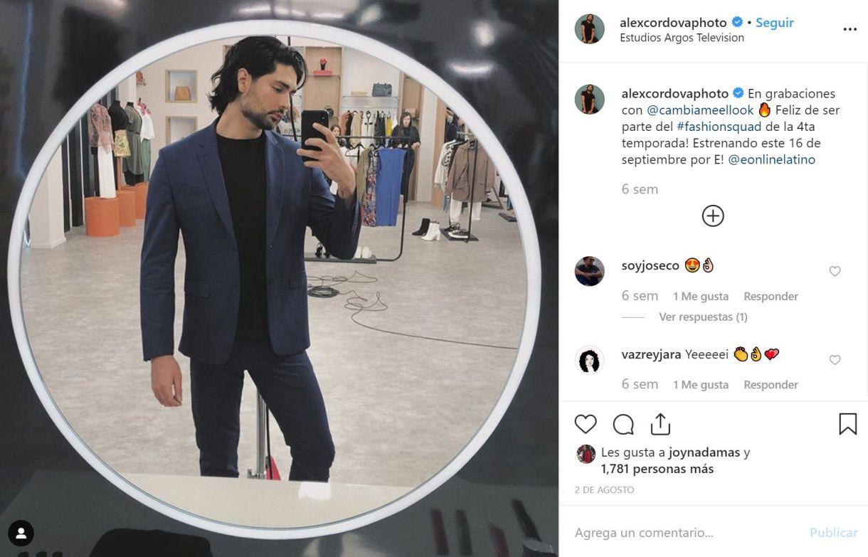 Alex Cordova será el experto en fotografía (Foto: Instagram)