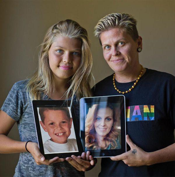 Eric y Corey, y sus fotos de cuando eran madre e hijo