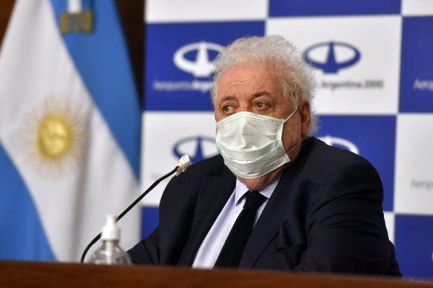 Ginés González García habló en conferencia luego de recibir los insumos (Télam)