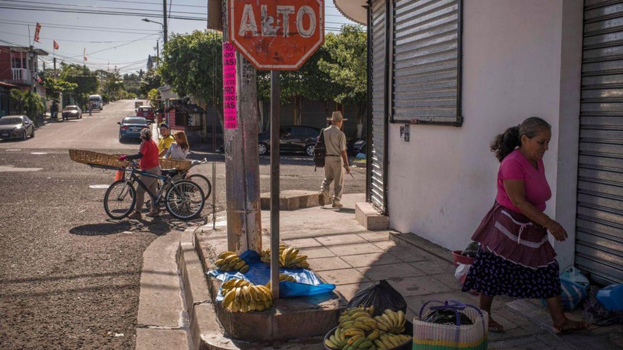 Una calle en Altavista, cuyos residentes dicen que hay una fuerte presencia de la pandilla Barrio 18