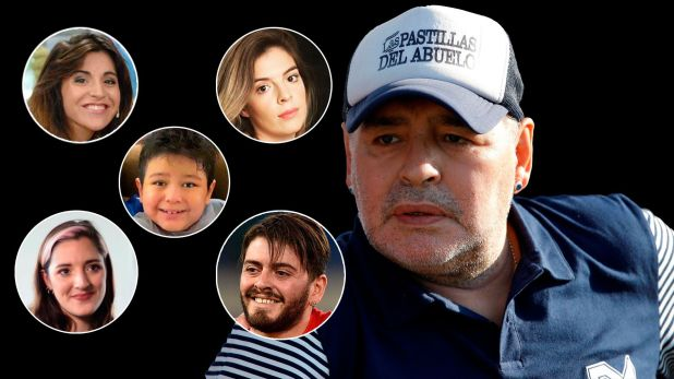 Maradona e hijos