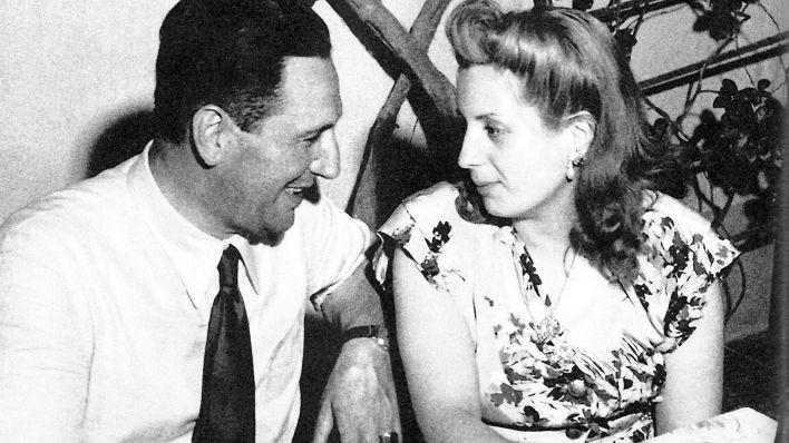 Juan Domingo Perón y Evita Duarte (Universal History Archive/Shutterstock)