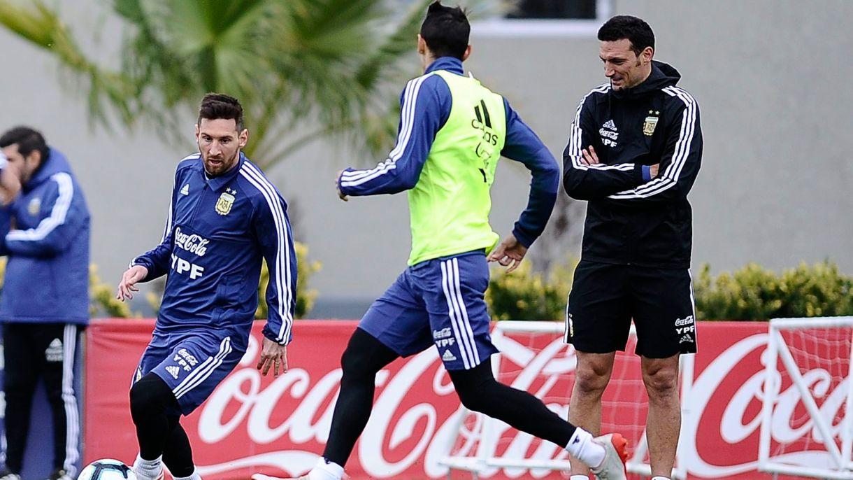 Lionel Scaloni podría sufrir una importante baja de cara a la Copa América si se confirma la lesión de Exequiel Palacios (fotobaires)