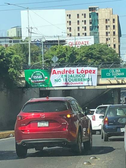 The protest against President Andrés Manuel López Obrador is taking place in 70 cities in the country, according to its organizers (Photo: @tiavosx)