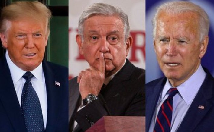 AMLO, Trump y Joe Biden (Foto: Archivo)
