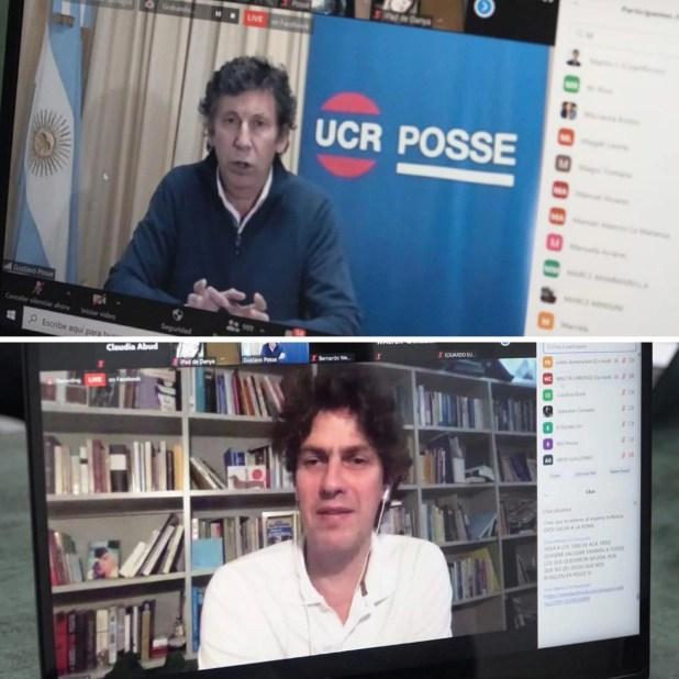 Gustavo Posse Martin Lousteau interna de la UCR PBA