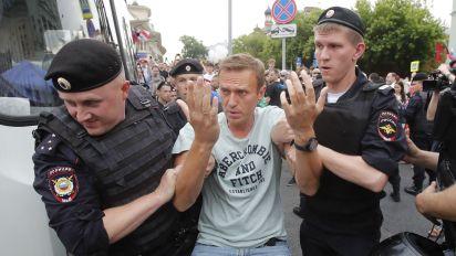 El líder opositora Alexey Navalny, nuevamente arrestado (Reuters)