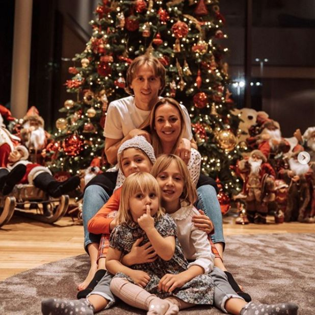 Luka Modric y su familia