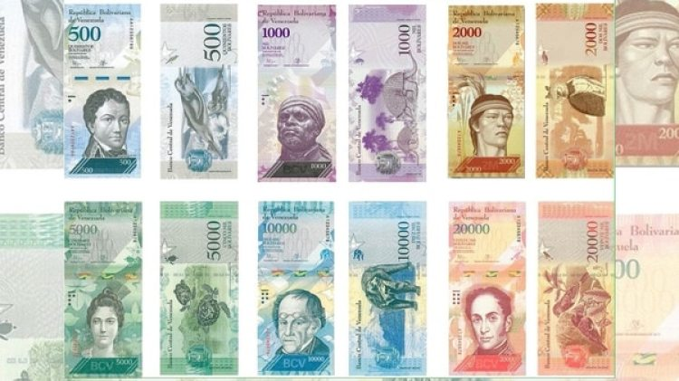 Los billetes de distinta denominación en Venezuela