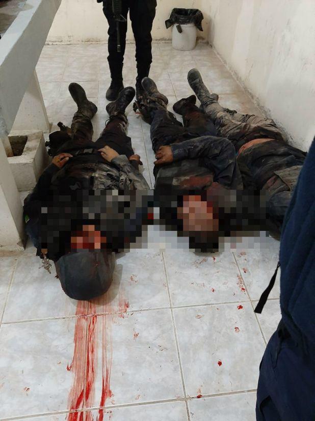 Tres de los policías estatales de Oaxaca asesinados (Foto: Cortesía)