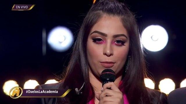 Francely interpretó un tema de Julieta Venegas