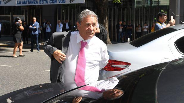 Eduardo Duhalde llegando a la asunción de Alberto Fernández, el 10 de diciembre último. (Maximiliano Luna)