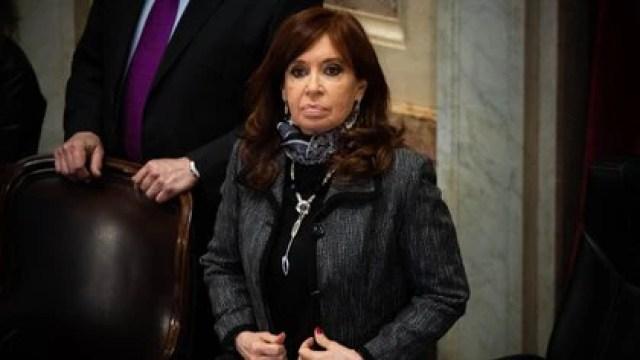 Cristina Kirchner en la previa de una sesión en el Senado