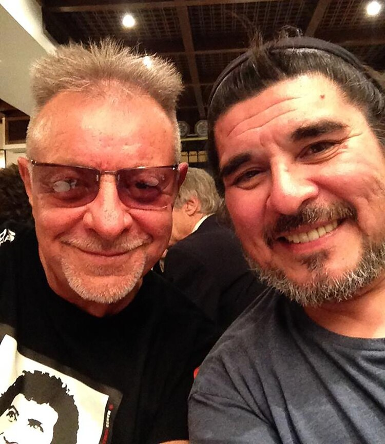 Fabián Matus con León Gieco (Facebook)