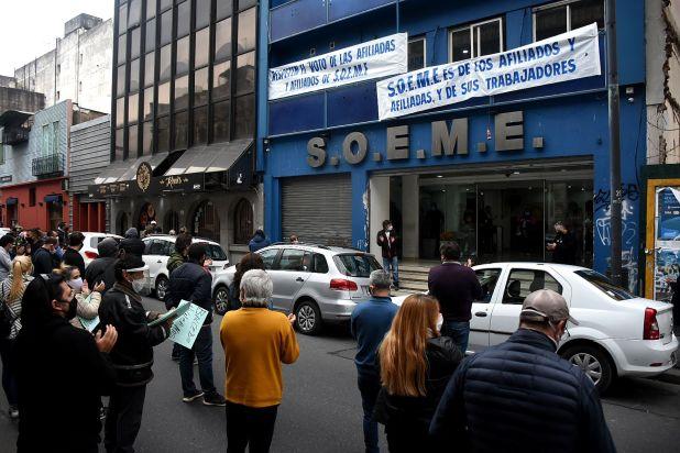 Protesta INTERVENCION en SOEME