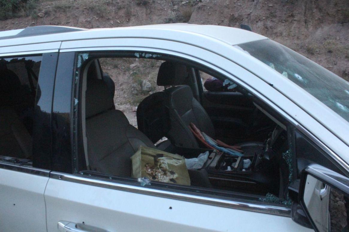 Una de las camionetas atacadas (Foto: Cuartoscuro)