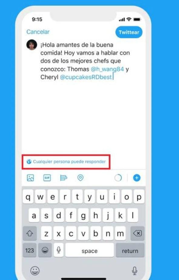 Esta herramienta te permitirá elegir quién puede responder tus tuits.
