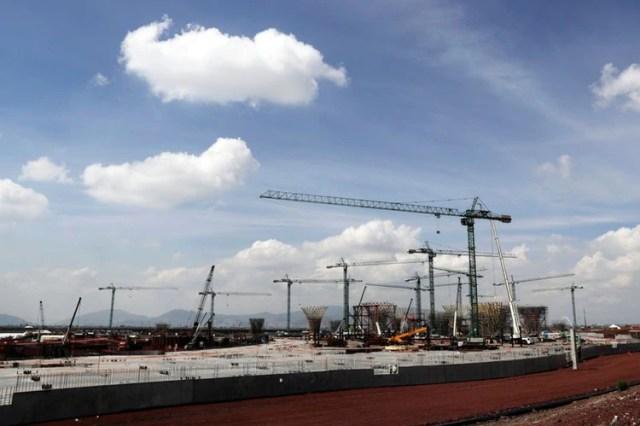 Imagen de archivo que muestra una parte del área de la terminal en el sitio de construcción del cancelado Nuevo Aeropuerto Internacional de la Ciudad de Mexico, en Texcoco, en las afueras de la capital. 29 de octubre de 2018. REUTERS / Henry Romero