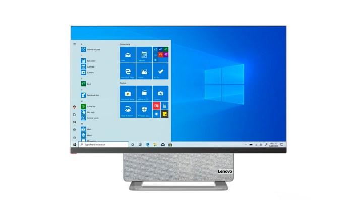 Lenovo Yoga AIO 7:  Presentan una computadora con pantalla giratoria