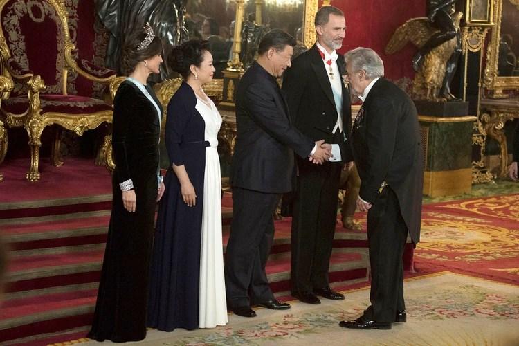 Domingo con el presidente de China, Xi Jinping. (AP)