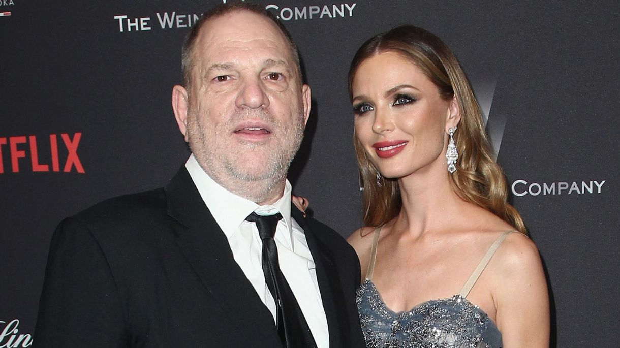 Harvey Weinstein con su ex esposa Georgina Chapman (Getty)