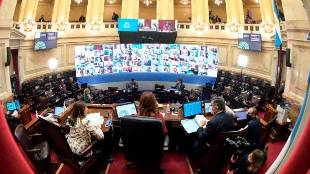 En el Senado se lleva adelante una sesión histórica debido a la que la mayoría de los legisladores participan en forma remota
