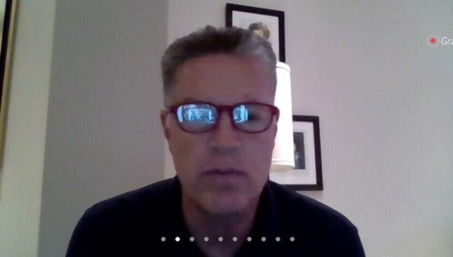 Ricardo Peláez durante la videoconferencia de prensa (Captura de pantalla: Zoom)