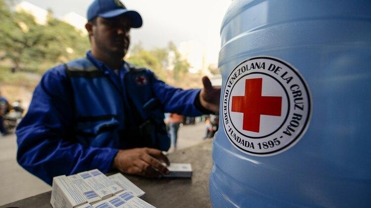 La ayuda humanitaria de la Cruz Roja (AFP)