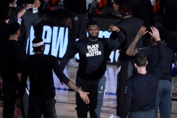 Zion Williamson con una remera de Black Lives Matter (USA TODAY Sports)