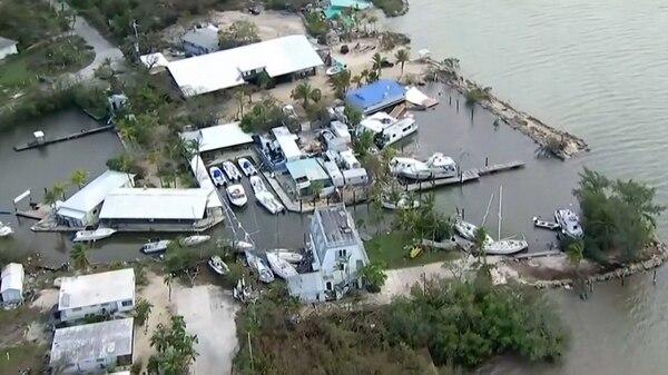 Así quedo Cayo Largo en Florida este año, tras el paso del huracán Irma