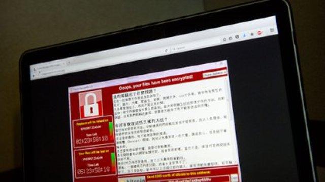 Una captura de pantalla del mensaje que se veía en las computadoras afectadas por WannaCry, uno de los ransomware más dañinos de los últimos tiempos (AP)